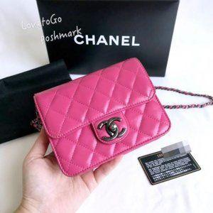 Authentic Pink Chanel Mini Flap Bag